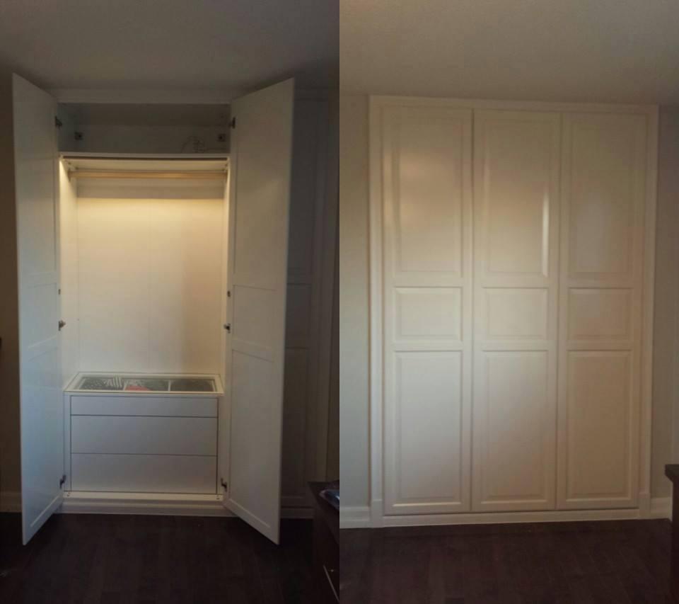 Custom built in closet system