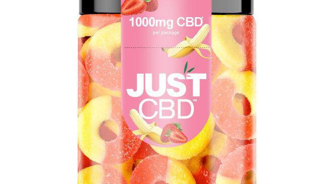Strawberry-Banana Gummies - 1000 mg