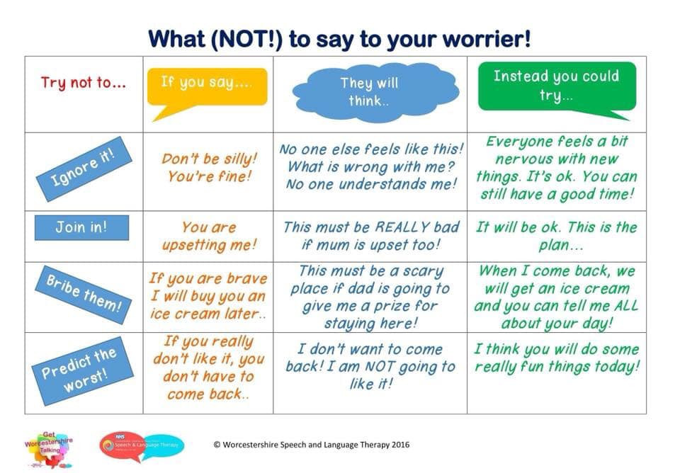 What not to say to your worrier.