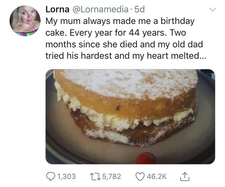 The Cake of Love - Lorna's original tweet