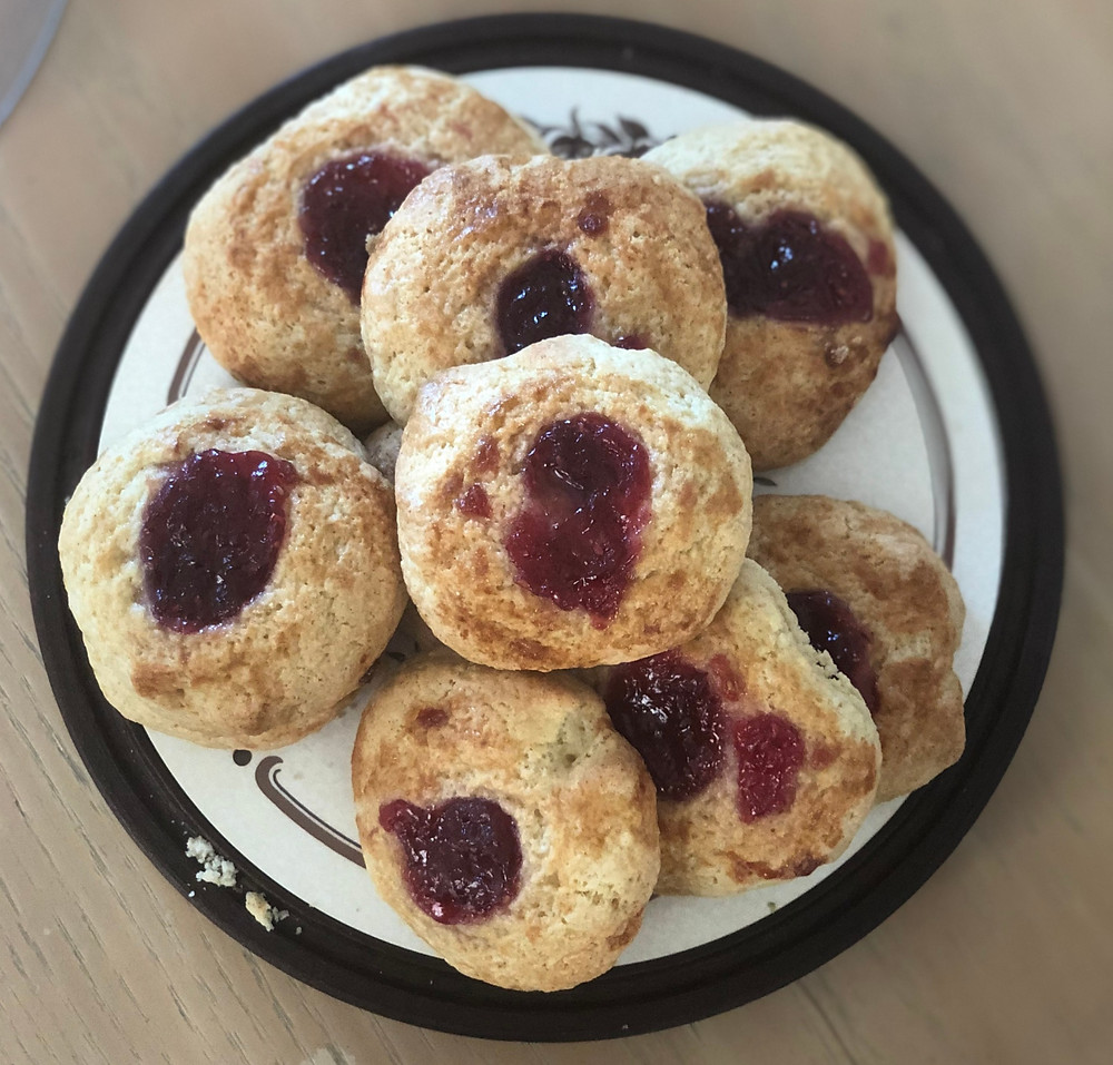 Perfectly imperfect Jam Buns
