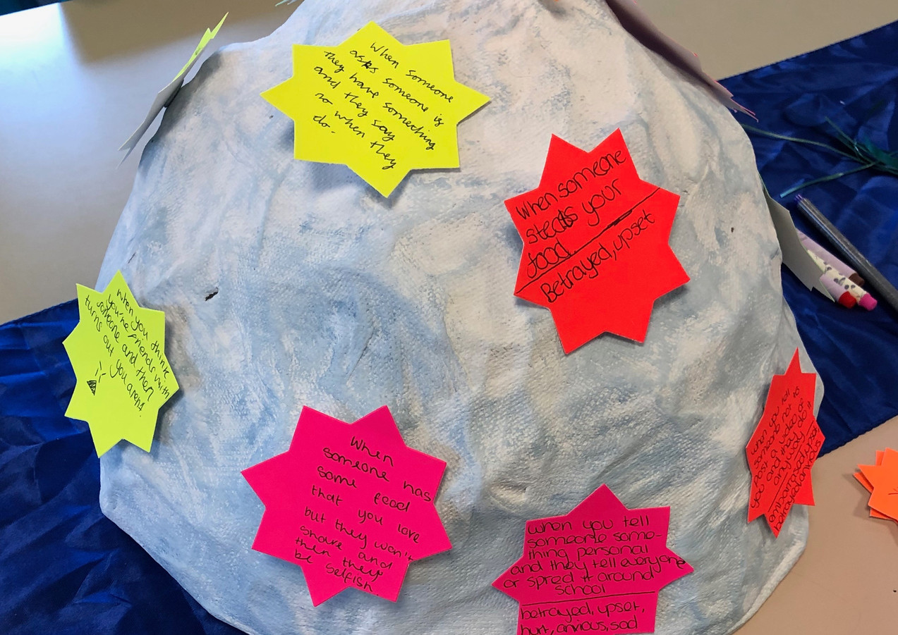 Anger Iceberg at Jennifer's session delivered with Cherished Girls Birmingham