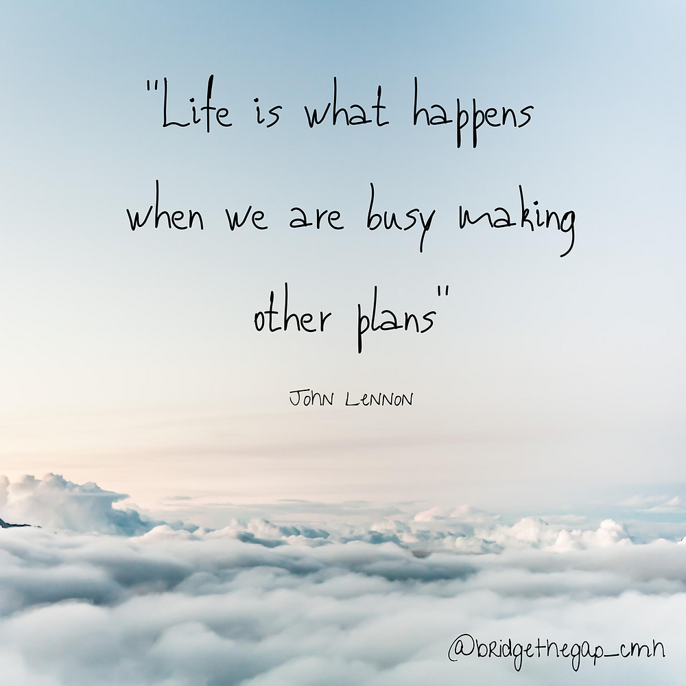 Life is what happens...ACT therapy helps us to reach our goals and move through difficult emotions.