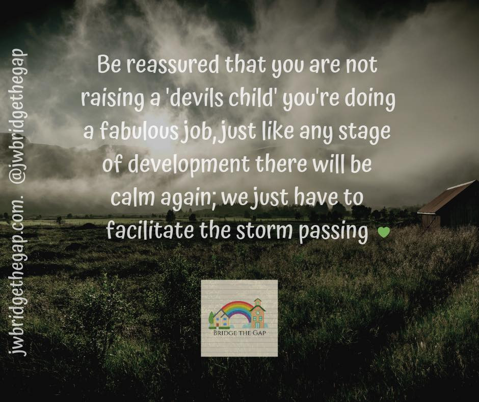 Simple, relationship focused, parenting strategies can help storms to pass.