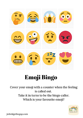 Emoji Bingo Download. 5 Bingo cards and Sheet for calling.