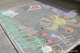 Easter Chalk Drawings