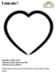 Self-eateem heart. Free download for emotional literacy and mental health.