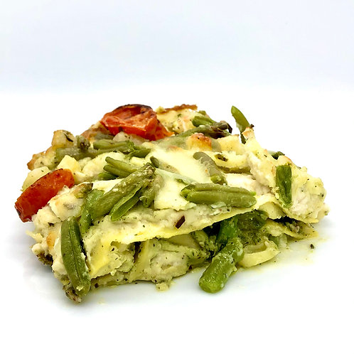 Lasagna di pesto - Lasaña vegetal