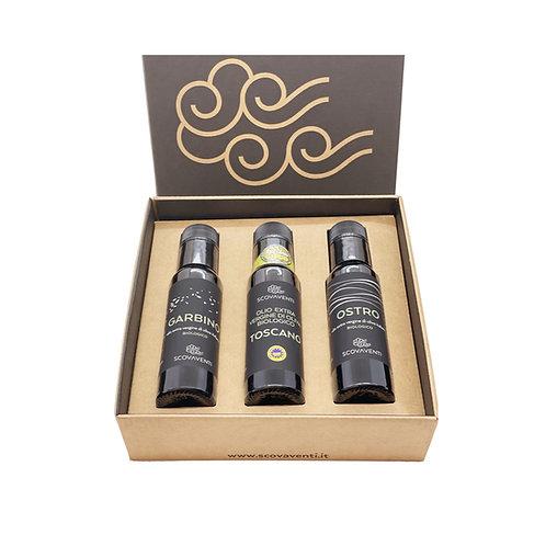 Caja regalo: 3 botellas aceite extravirgen de oliva biologico Italiano