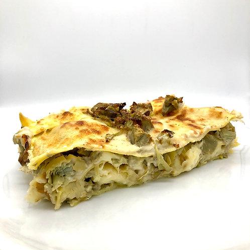 Lasagna di carciofi - Lasaña de alcachofas artesana
