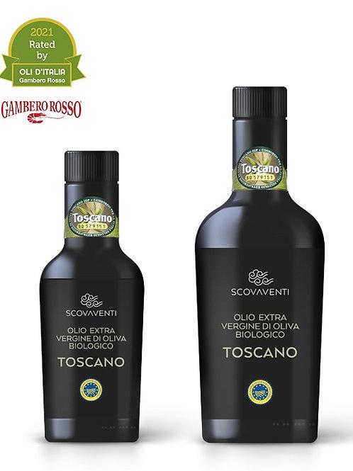 Toscano IGP Olio extravergine di oliva biologico Italiano - aceite