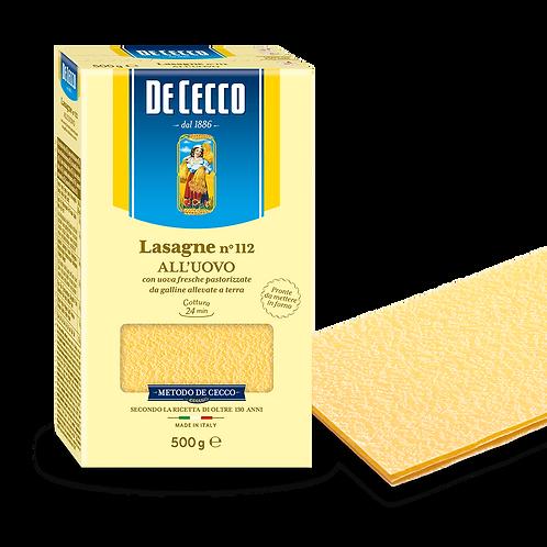 Pasta Lamina lasaña De Cecco
