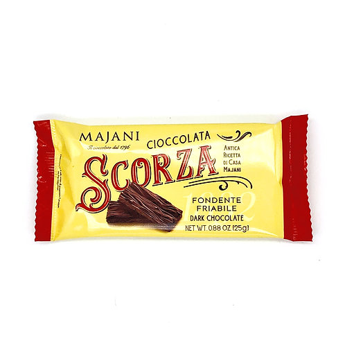 Scorza di  cioccolata Majani 25 gr - chocolate