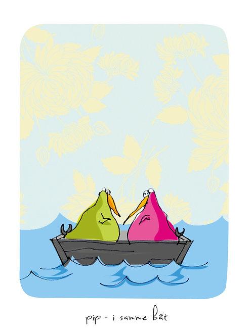 """""""Pip – i samme båt"""" kr. 450,-"""