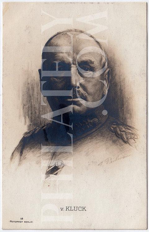 German Empire (Deutsches Reich) Military Propaganda Postcard- Von Kluck