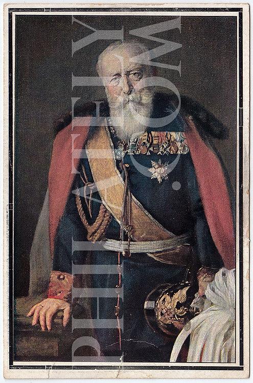 German Empire (Deutsches Reich) Military Propaganda Postcard- Frederick I