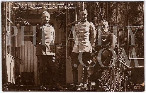 German Empire (Deutsches Reich) Military Propaganda Postcard- Kaiser Wilhelm II