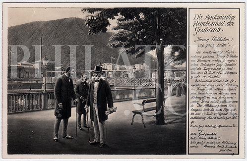 German Empire (Deutsches Reich) Military Propaganda Postcard- Kaiser Wilhelm I
