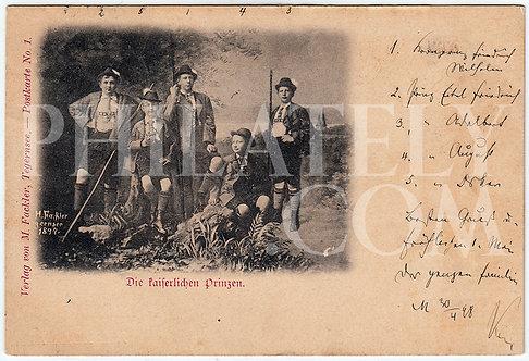 German Empire (Deutsches Reich) Military Propaganda Postcard- Princes