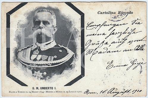 King of the Kingdom of Italy- Umberto I