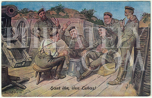 WW1- German Empire (Deutsches Reich) Military Propaganda Postcard