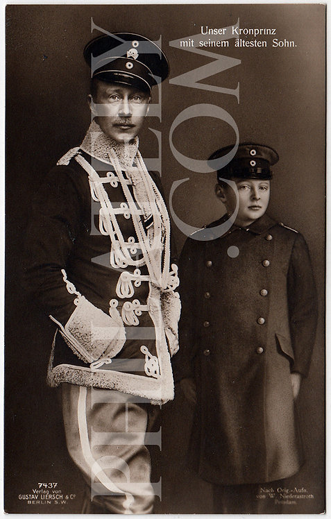 German Empire (Deutsches Reich) Military Propaganda Postcard- Crown Prince