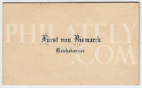 German Empire (Deutsches Reich) Military- Bismarck Visit Card