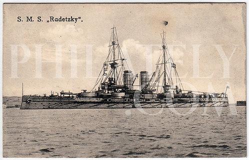 German Empire (Deutsches Reich) Military Propaganda Postcard- SMS Radetzky