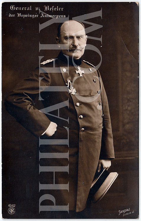 German Empire (Deutsches Reich) Military Propaganda Postcard- Von Beseler