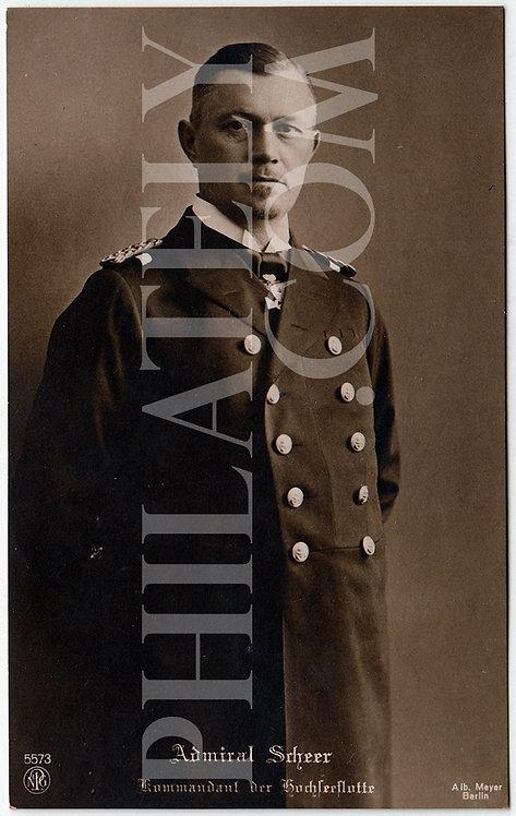 German Empire (Deutsches Reich) Military Propaganda Postcard- Admiral Scheer