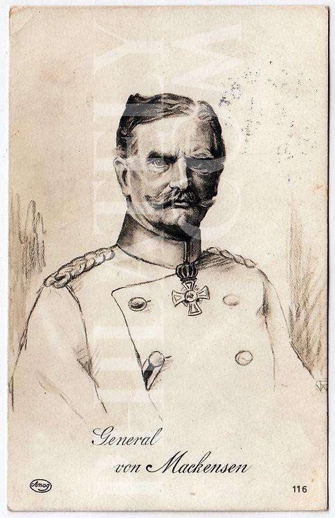 German Empire (Deutsches Reich) Military Propaganda Postcard- Von Mackensen