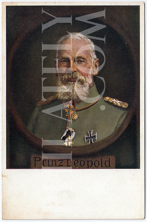German Empire (Deutsches Reich) Military Propaganda Postcard- Prince Leopold