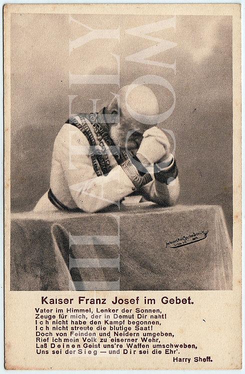 German Empire (Deutsches Reich) Military Propaganda Postcard- Franz Joseph I