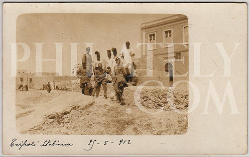 Italo-Turkish (Tripolitanian / Libyan) War Military Propaganda Postcard