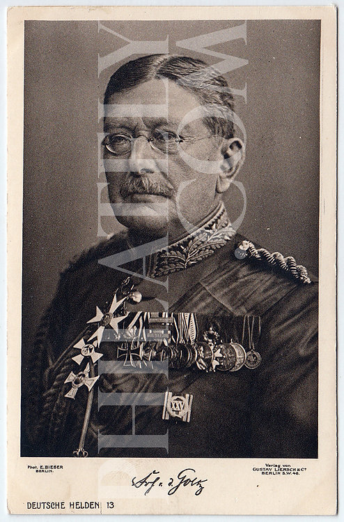 German Empire (Deutsches Reich) Military Propaganda Postcard- Von der Goltz