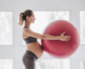 Beautiful pregnant woman workout. Yoga w