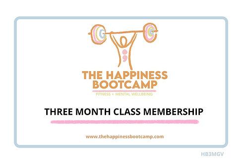THREE MONTH CLASS MEMBERSHIP