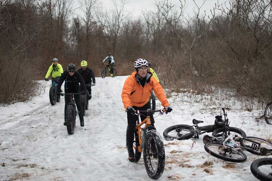Hollow Oak Land Trust Hits the Snow Covered Trails