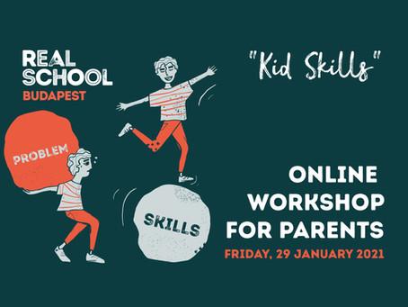 """Online Workshop on """"Kid Skills"""" - 29 January 2021"""