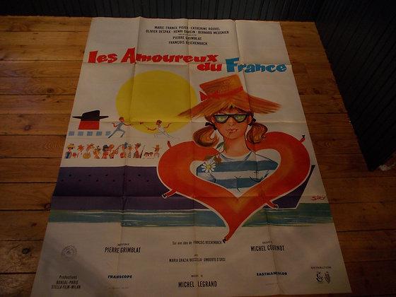 6047  Affiche film Les amoureux de France