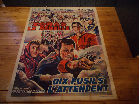 6034 Affiche original  film Dix fusils L'attendent
