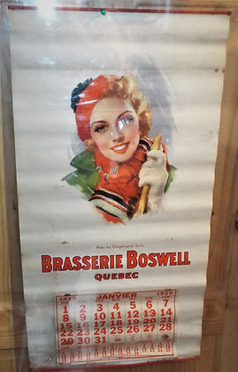 7887 Calendrier Brasserie Boswell 1939
