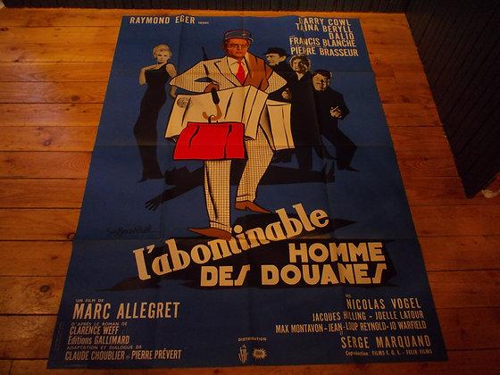 6033 Affiche film L'abobinable homme des douanes