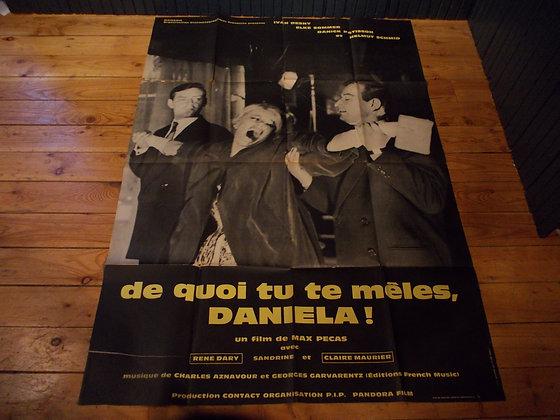 6030 Affiche original film De quoi tu te meles