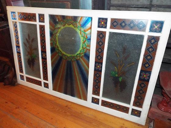 4623 Magnifique peinture sur vitre