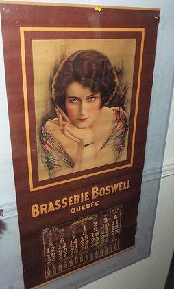 7889 Calendrier brasserie Boswell 1936