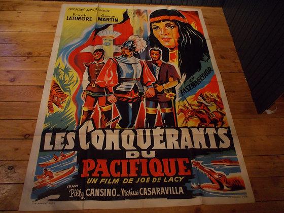 6042 Affiche film Les Conquéreants du Pacifique