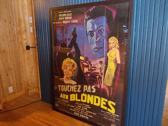 6053 affiche film Touchez pas au Blondes