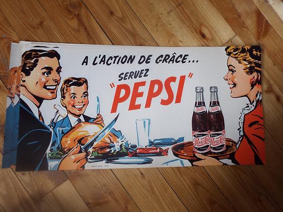 7029 Affiche publicitaire papier pepsi