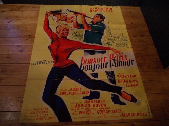 6039 Affiche film Bonsoir Paris,bonjour L'amour